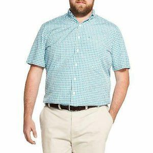 IZOD Men's Wicking Gingham Button-Front Shirt 3XLT